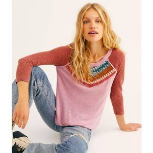 Free People $98 Spring Bound Long Sleeve Top Mauve